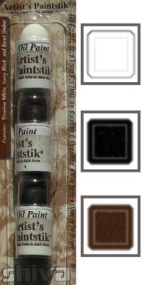 3 mini sticks blanc, noir, ombre brulée