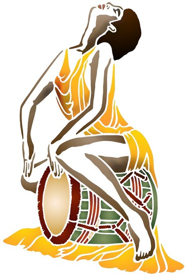 Afri1009 femme tambour mon artisane