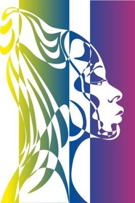 Visage femme africaine design