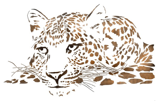 Afri3771 pochoir tete leopard mon artisane