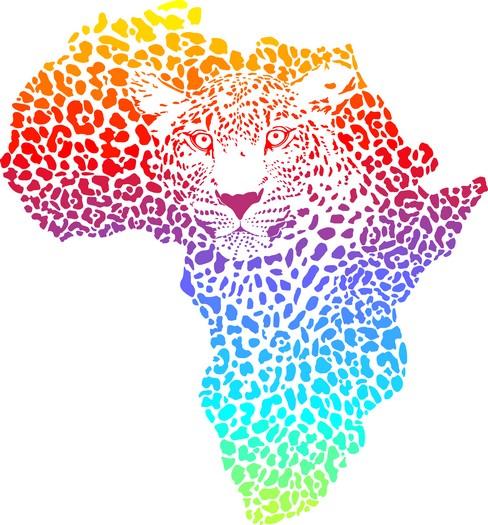 Afri4003 pochoir carte afrique leopard 5