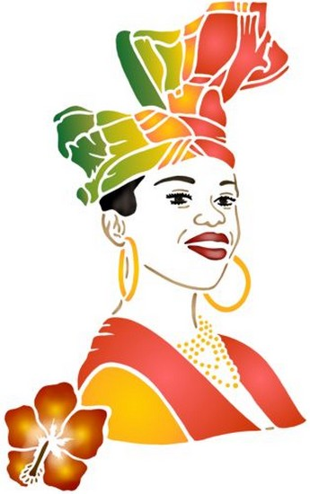 Afric89 creole pochoir