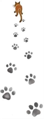 An001 pochoir traces de chat
