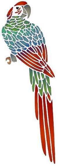An1008 pochoir perroquet