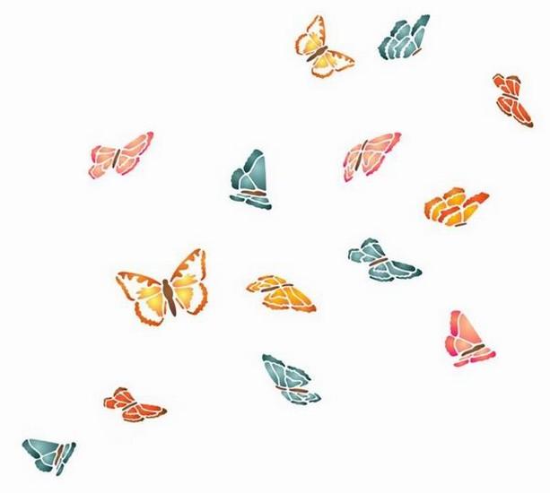 Anisp004 pochoir envol de papillons