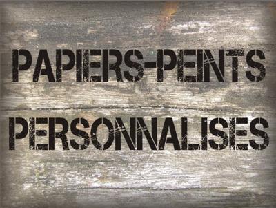 Bouton papiers peints personnalises custom