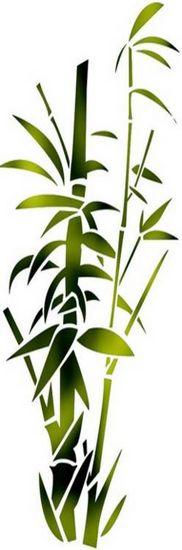 Chin26 bambous epais etroit mon artisane style pochoir