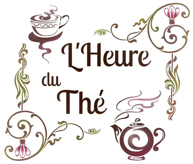 Cui7417 heure du the pochoir theiere tea stencil