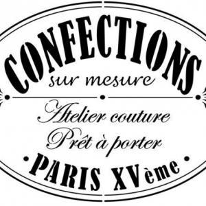 D24715 atelier couture paris vintage style pochoir mon artisane