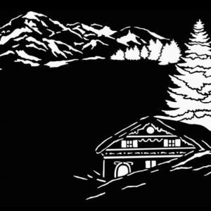 D989874 pochoir chalet montagne bombe a neige mon artisane decoration de noel style pochoir