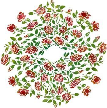 Rosace de roses