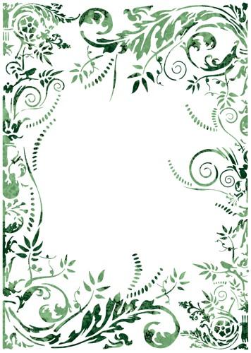 Fl13002 cadre volutes baroques pochoir mon artisane
