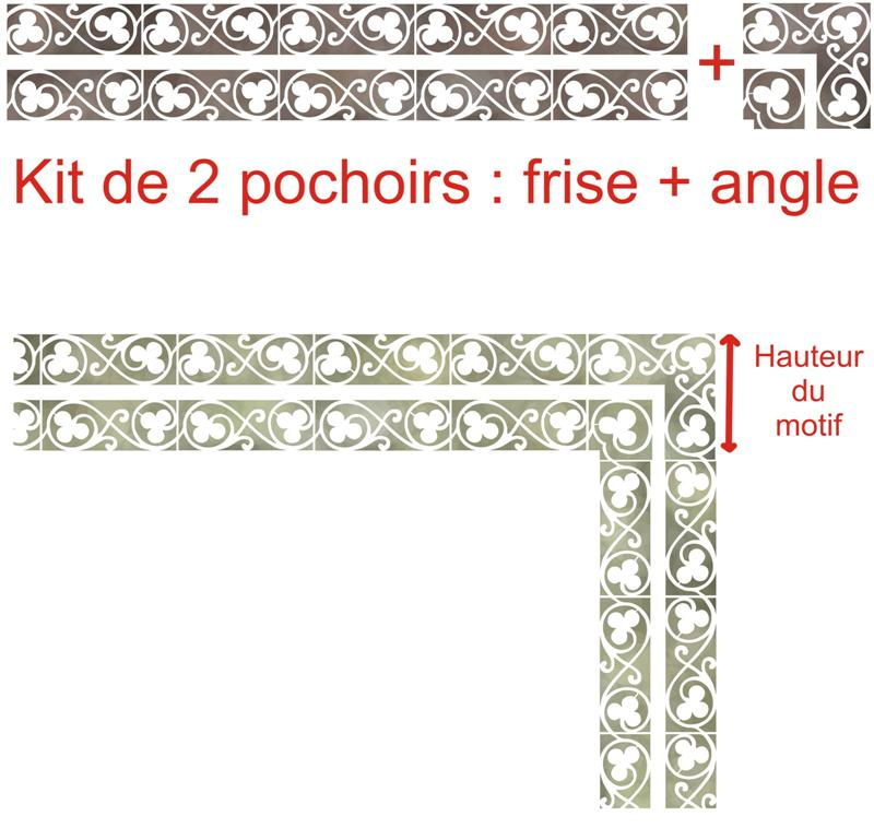 Fr223410 frise et angle trefles faiences carrelages medium
