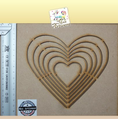 Gabarit coeur pour scrapbooking photo gabarit bois