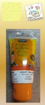 Gel pailleté jaune clair