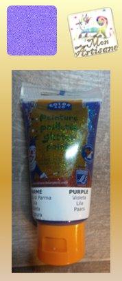 Gel paillete pourpre violet 3 90