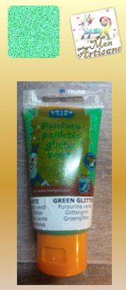 Gel paillete vert emeraude 3 90