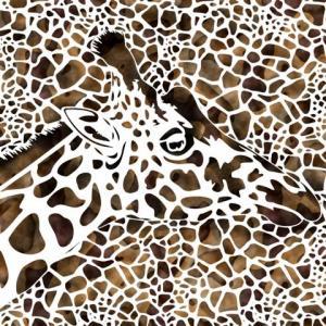 Girafe et taches pochoircouleur small