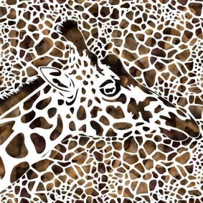 Girafe taches