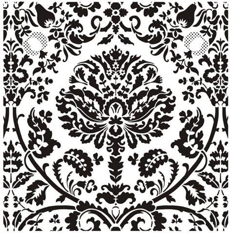 Grand motif baroque pochoir mon artisane