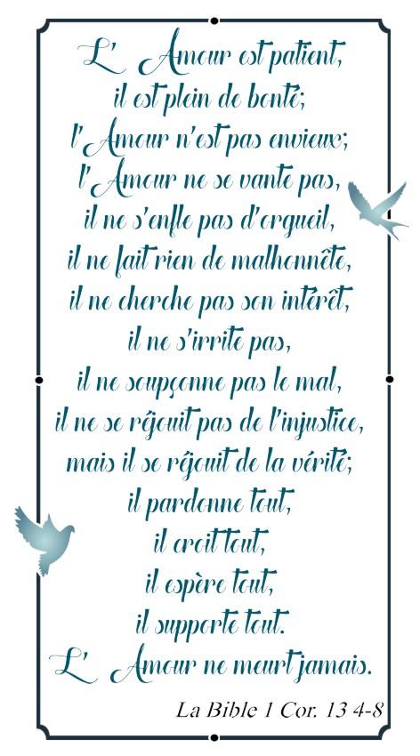 Lett34887 lettrage l amour bible 1cor 13 4 8 pochoir a peindre mon artisane decoration murale sticker verset biblique