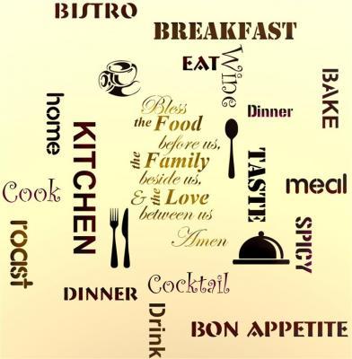 lettrage de cuisine