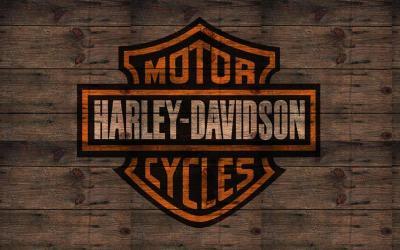 Harley Davidson fond bois