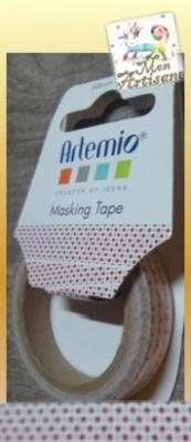 Ruban adhesif papier petits points