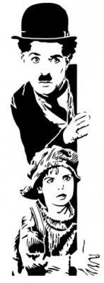 Mu5515 silhouette charlie chaplin charlot 2 pochoir mon artisane
