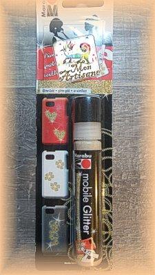Paillettes dorees marabu pour portable mobile glitter mon artisane 3 90