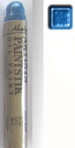 Peinture pochoir baton markal bleu irise