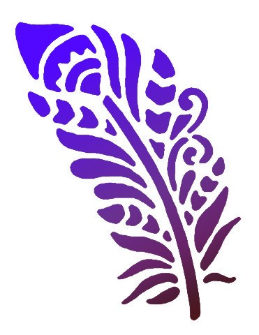 Petite plume pochoir mon artisane style pochoir 1