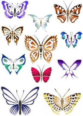 Planche de papillons pochoir mon artisane ref an5482 p