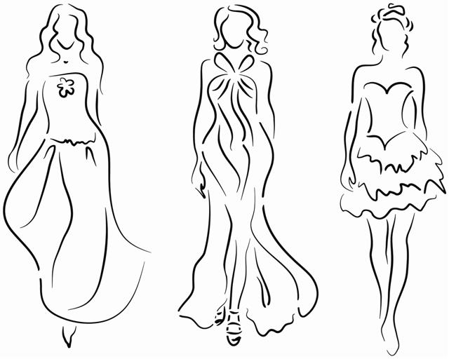 Pochoir 3 femmes mode stylisme stipo12011 3femmes