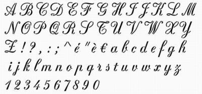 Pochoir alphabet Rosa Stencil plastique 400 microns