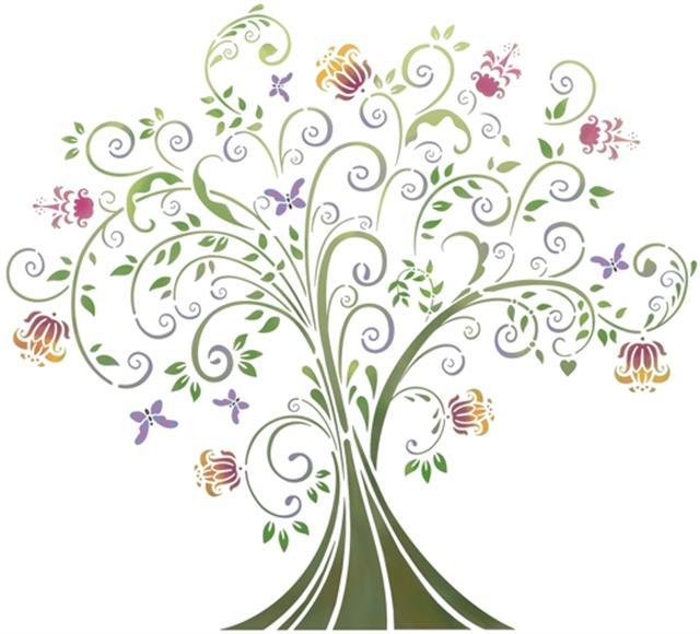 Pochoir arbre du paradis fantastique stipo1031 small