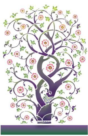 Pochoir arbre fantastique torsad magnifique mod le en for Pochoir arbre