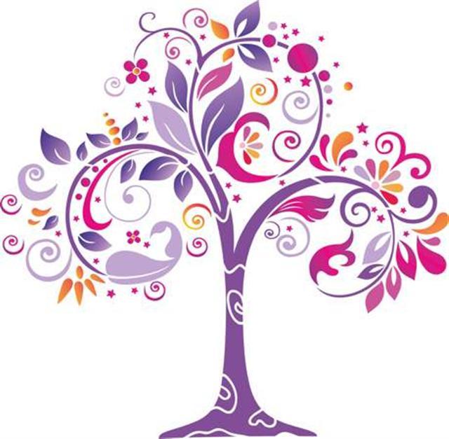 Pochoir arbre original