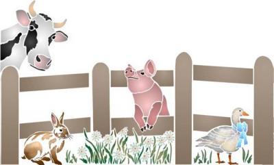 Barrière Vache lapin cochon oie