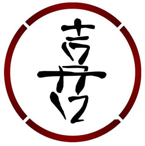 Pochoir chin 14 chance symbole chinois small