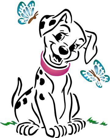 Pochoir dalmatien papillons
