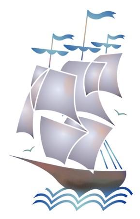 Pochoir de voilier a peindre stipo6007 bateau a voile mon artisane