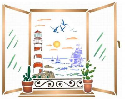 fenêtre vue marine