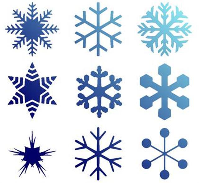 Pochoir flocons de neige noel