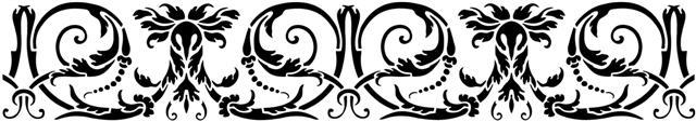 Pochoir frise baroque roussel 2