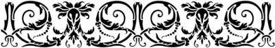 Frise baroque volutes fine