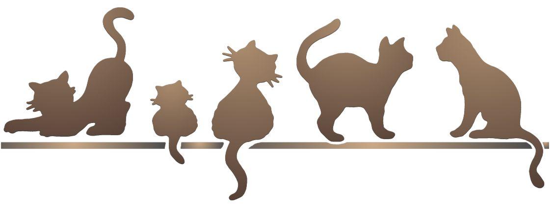 Pochoir frise de chats spa044 style pochoir