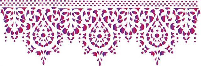 Frises en pochoirs tous motifs et toutes dimensions en plastique r utilisable volont - Motif oriental a imprimer ...