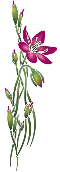 Pochoir grande fleur porte eliane