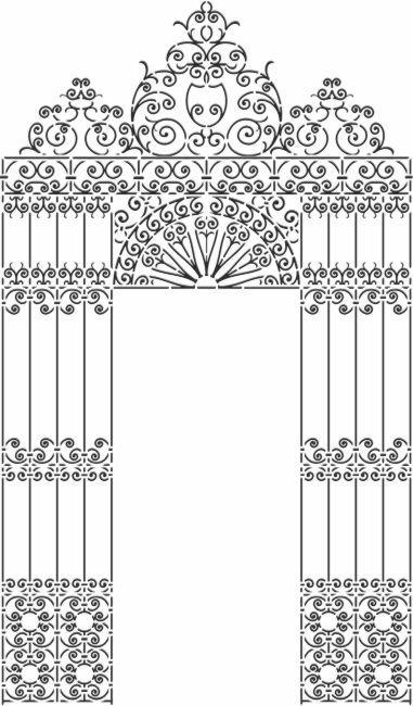 Pochoir grille orientale portail a peindre mon artisane stipo207